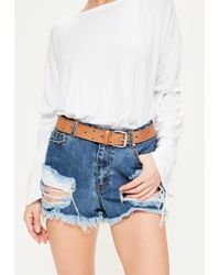 Missguided - Brown Cut Out Star Belt - Lyst