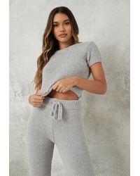 Missguided T-shirt gris doux