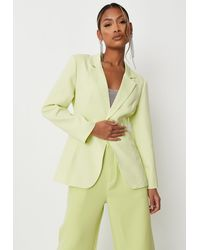 Missguided Lime Tailored Skinny Blazer - Green