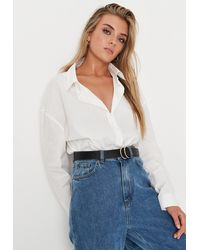 Missguided Black Faux Leather Double Ring Stud Fasten Belt