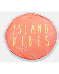 Missguided Orange Island Vibes Round Towel