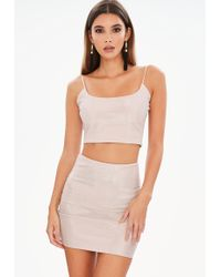 Missguided Nude Metalic Co Ord Set - Natural