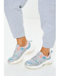Missguided - Grey Minimal Upper Chunky Trainers - Lyst
