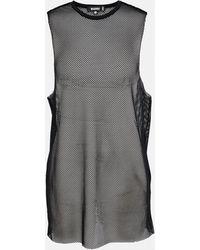 Missguided Oversized Fishnet Dress - Black