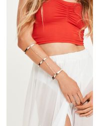 Missguided Rose Gold Chain Layered Full Arm Cuff - Multicolour