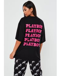 Missguided X Black Oversized Graphic T Shirt