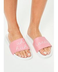 Missguided Pink Uh Honey Sliders