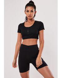 Missguided Gym Crop Top - Black
