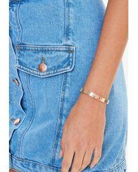 Missguided - Gold Link Bracelet - Lyst