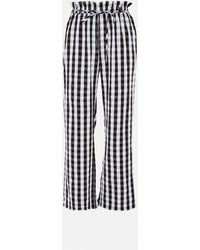 Missguided Gingham Co Ord Wide Leg Pants - Black