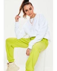 Missguided White Basic Oversized Sweatshirt