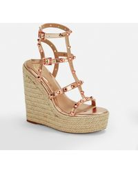 Missguided Rose Gold Dome Stud Wedges - Metallic