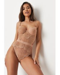 Missguided Ann Summers Hold Me Tight Nude Sand Babydoll - Natural