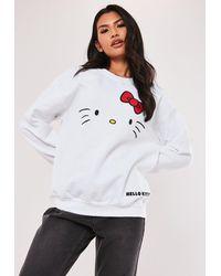 Missguided Hello Kitty Graphic Sweatshirt - White