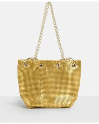Missguided | Gold Metallic Chainmail Cross Body Bag | Lyst