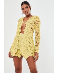 Missguided - Co Ord Crochet Lace Blazer - Lyst