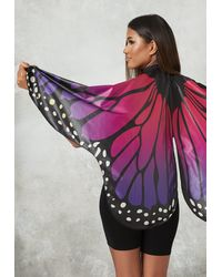 Missguided Purple Large Butterfly Wings