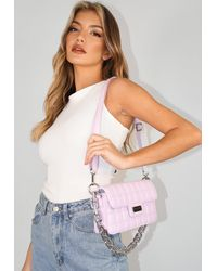 Missguided Lilac Quilted Shoulder Bag - Purple