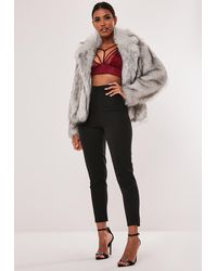 Missguided Red Lace Harness Bralet