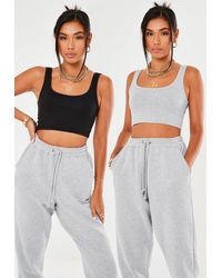 Missguided And Gray 2 Pack Basic Bralet
