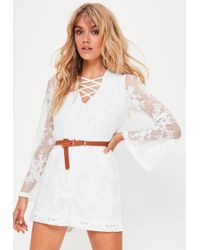 Missguided | Petite White Lace Romper | Lyst