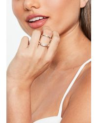Missguided - Rose Gold Simple Fine Ring - Lyst