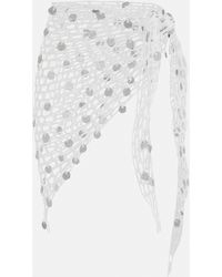 Missguided Sequin Crochet Beach Cover Up Sarong - Metallic