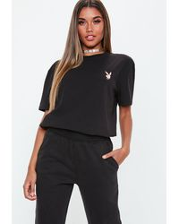 Missguided X Black Oversized T Shirt