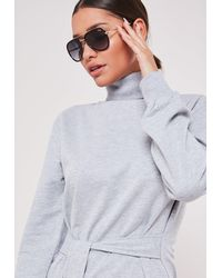 Missguided Australia All In Mini Smoke Sunglasses - Black