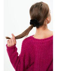 Missguided Black Velvet Hair Scrunchie