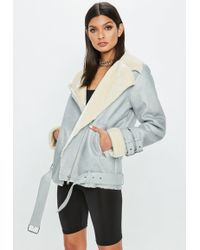 Missguided - Grey Contrast Ultimate Aviator - Lyst