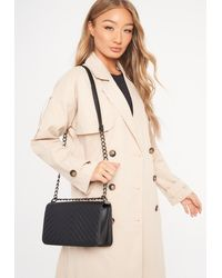 Missguided Black Quilted Cross Body Bag