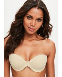 Missguided - Nude Secret Winged Stick On Strapless Bra - Lyst