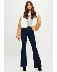 Missguided Blue Lawless Flared Jeans