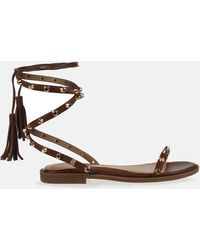 Missguided Lace Up Gladiator Sandals - Brown