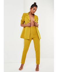 Missguided Mustard Co Ord Basic Cigarette Pants - Yellow