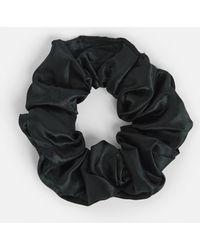 Missguided - Black Satin Scrunchie - Lyst