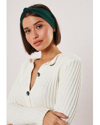 Missguided Green Knot Front Headband