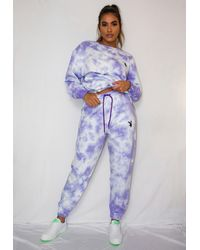 Missguided X Lilac Tie Dye Oversized Joggers - Purple