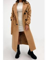 Missguided Formal Trench Coat - Brown