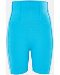 Missguided Co Ord Corset Detail Cycling Shorts - Blue