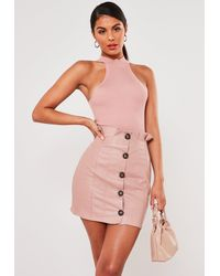 Missguided - Faux Leather Paper Bag Mini Skirt - Lyst