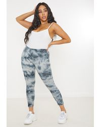 Missguided Plus Size White Tie Dye Leggings