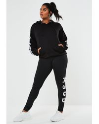 Missguided Size Black Msgd Full Length Leggings