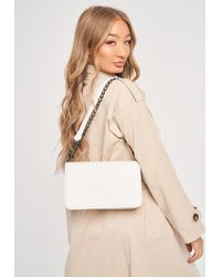 Missguided Quilted Cross Body Bag - White