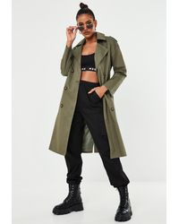 Missguided Oversized Trench Coat - Multicolor