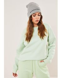 Missguided Branded Beanie Hat - Gray