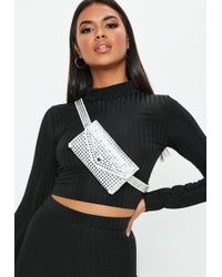 Missguided - White Studded Belt Bag - Lyst