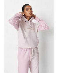 Missguided Petite Colorblock Oversized Hoodie - Pink