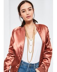 Missguided - Gold Layered Chain Necklace - Lyst